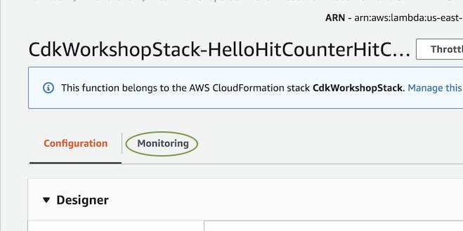 CloudWatch Logs :: AWS Cloud Development Kit (AWS CDK) Workshop